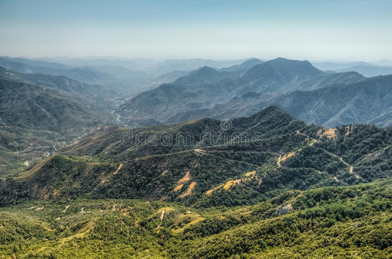 Views from Moro Rock in Sequoia and Kings Canyon National Park, California. royalty free stock photos