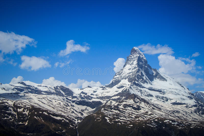 Views of the mountain Matterhorn royalty free stock photos