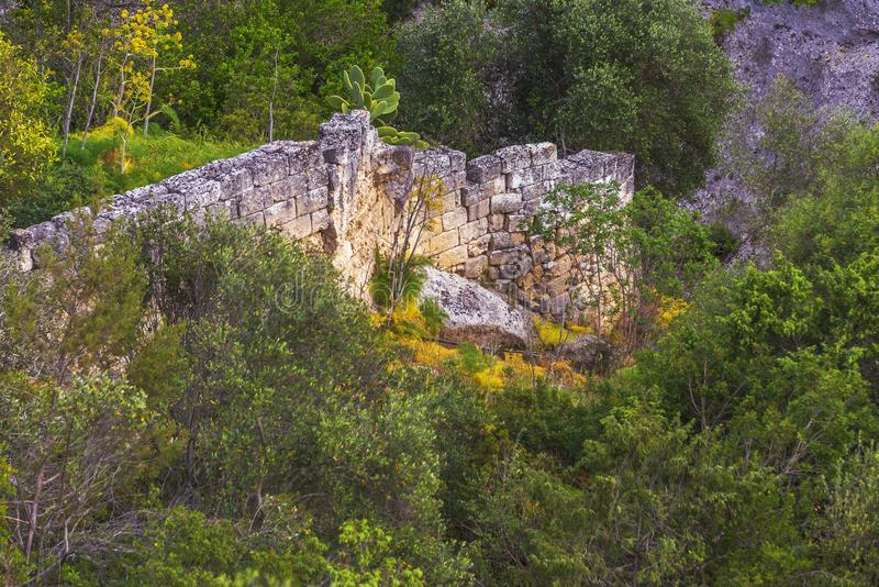 Views of The Murgia national park. And Rupestrian Churches from the Montescaglioso side stock photos
