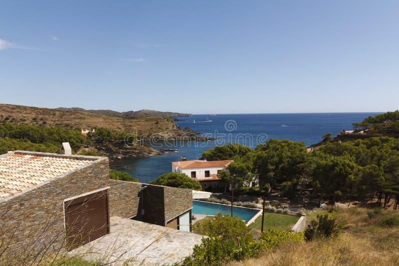 Views over the Costa Brava royalty free stock photos