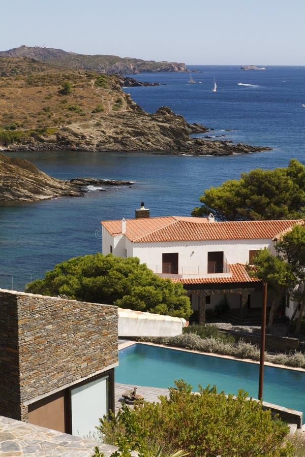 Views over the Costa Brava stock image