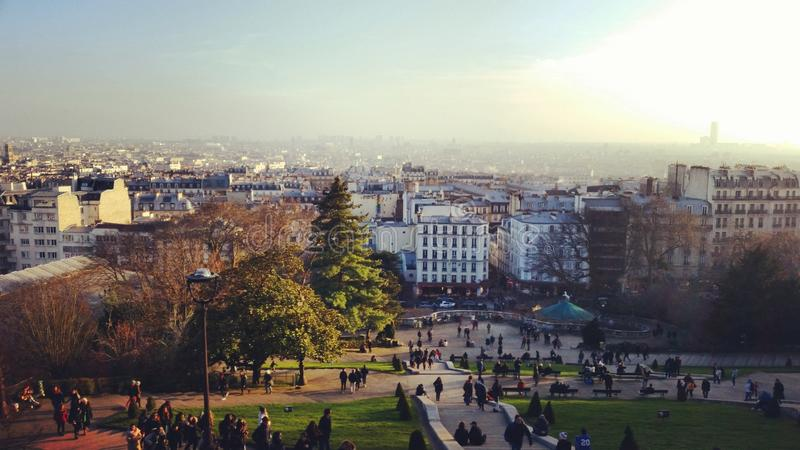 Views of Paris. From the Sacre Coeur stock photography