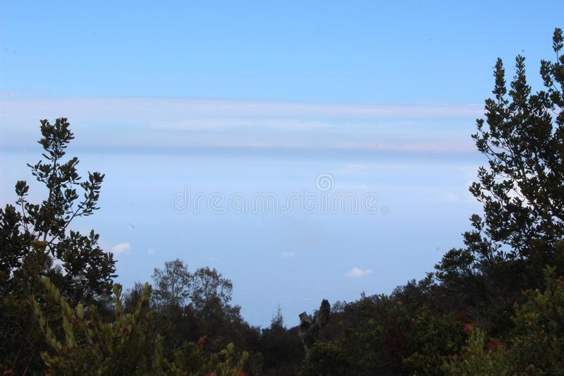 Andong Mountain. Views of the peak of Andong Mountain stock image