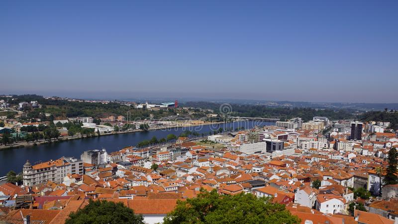 Views of the Portuguese city Coimbra royalty free stock photo
