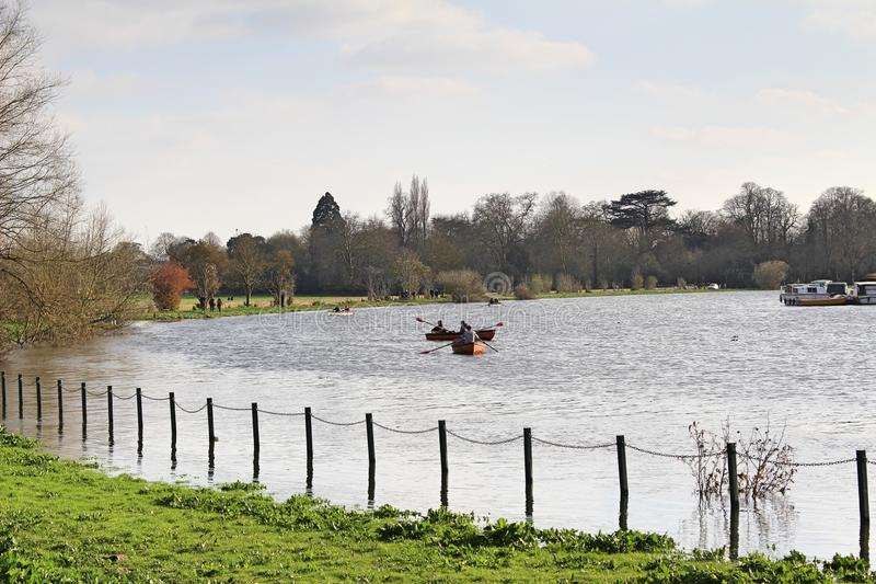 Views from the River Thames in Surrey. The United Kingdom royalty free stock photos