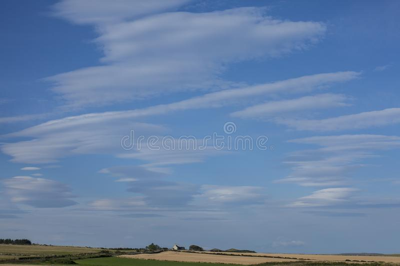Views of Scotland, the UK, Europe - bright blue skies. This image shows a view of Scotland, the UK, Europe. It was taken on a sunny day in summer 2016. We can royalty free stock photography