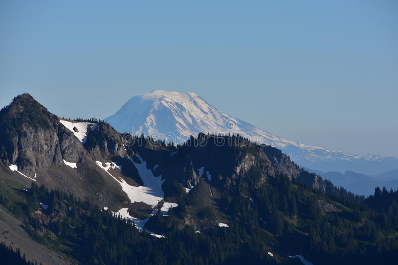Views From Sunrise: Mount Adams, Mount Rainier National Park, Cascade Mountains, Pacific Northwest, Washington State royalty free stock image