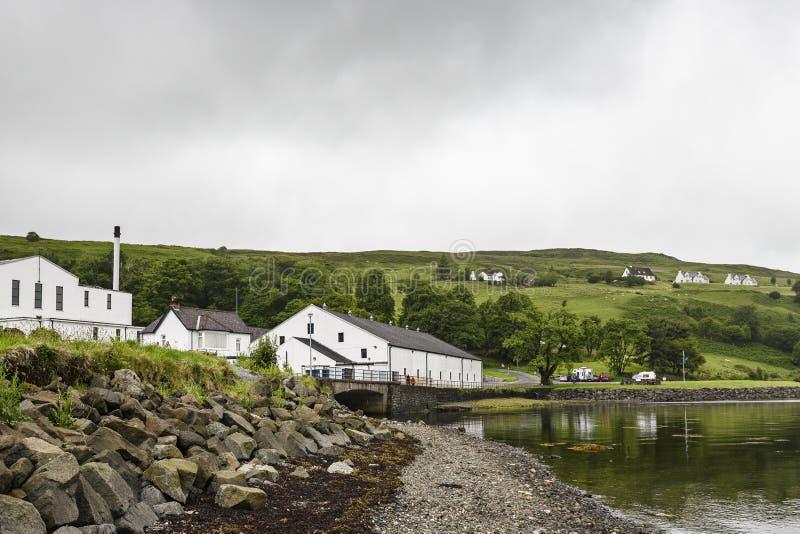 Views of Talisker village in the isle of Skye royalty free stock photos