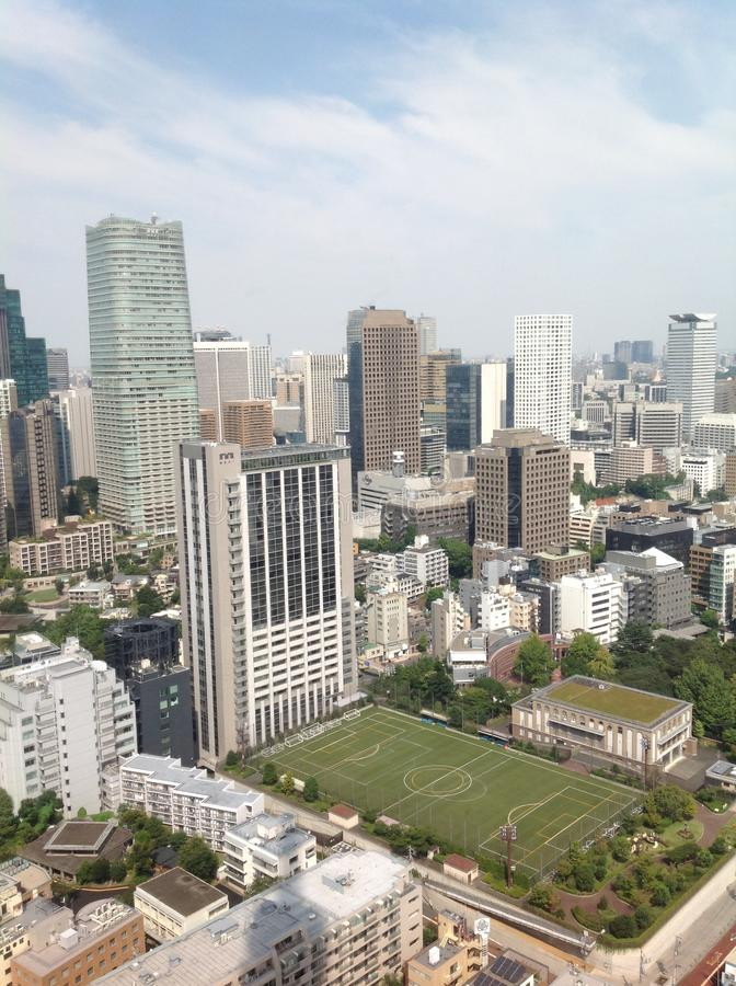 Views of Tokyo from the observation deck stock photos