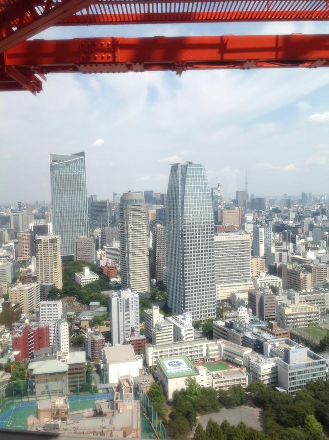 Views of Tokyo from the observation deck royalty free stock photos
