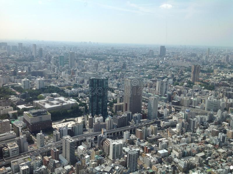 Views of Tokyo from the observation deck stock photography
