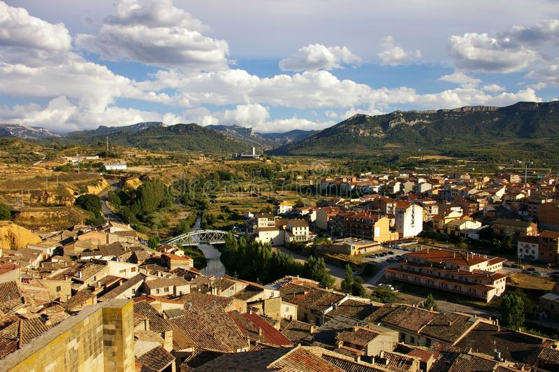 Views of an ancient town in Catalonia royalty free stock images