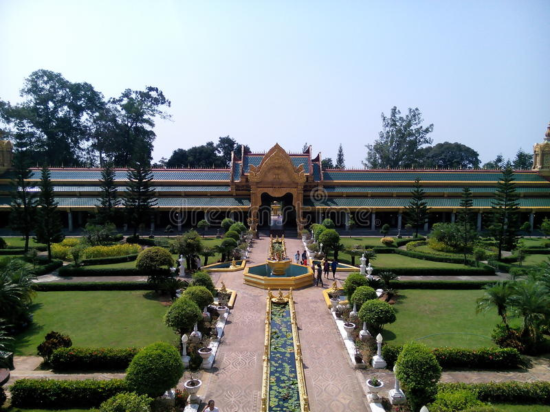 Views Wat Chai Mongkhon. Tourism Holy Places faith anchor relics Nature respect worship the Wednesday location Industry Optical Sculpture architecture historic stock images