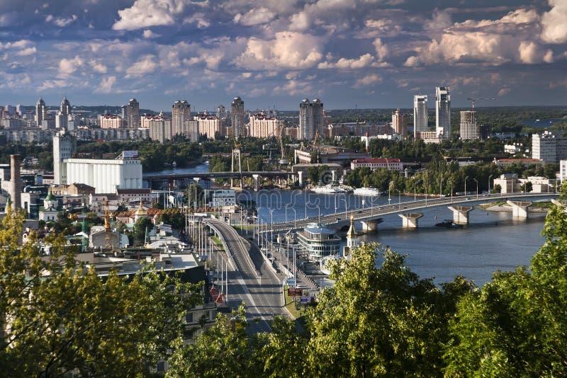 Viewsight de Kiev images libres de droits