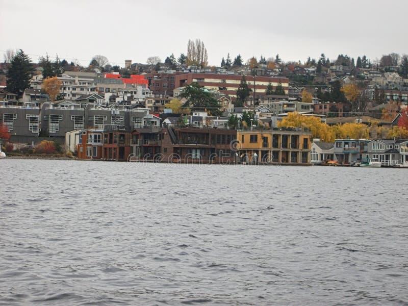 viewto die Bucht in Seattle stockbilder