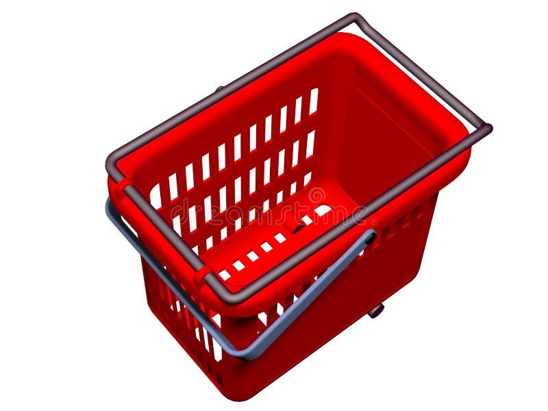 Vieww vide de dessus du panier à provisions 3D illustration stock