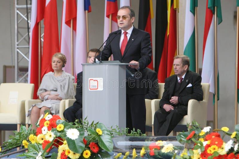 vigésimo aniversario del hundimiento del comunismo en Europa Central imágenes de archivo libres de regalías