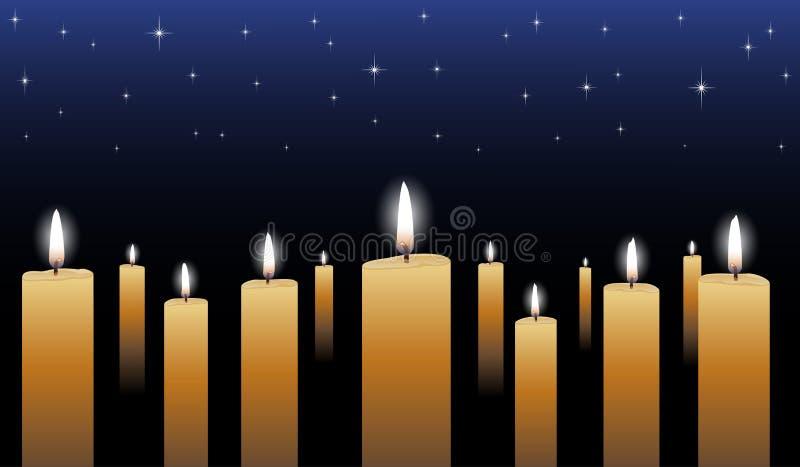 Vigília de luz de vela ilustração do vetor