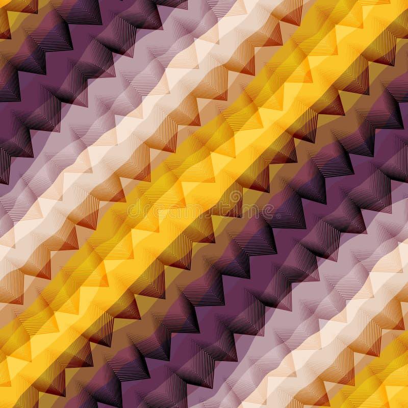Viga violeta e amarela diagonal ilustração stock