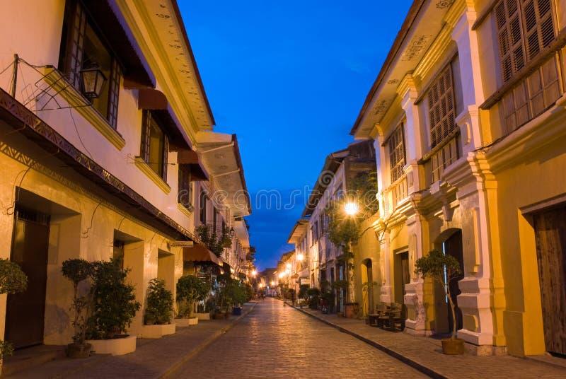 vigan historisk town royaltyfri fotografi