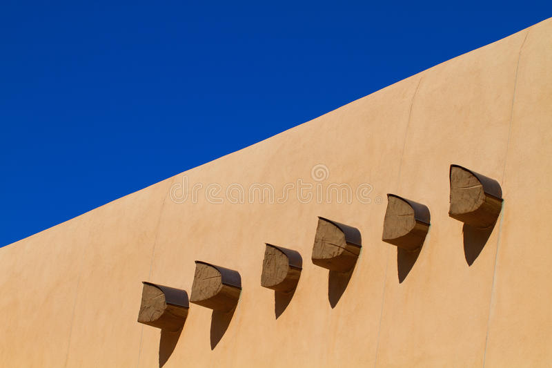 Vigas in an adobe wall stock image. Image of photo, light - 38076757