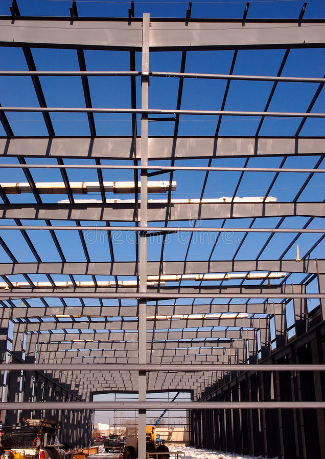 Vigas De Aço Estrutural Fotos de Stock