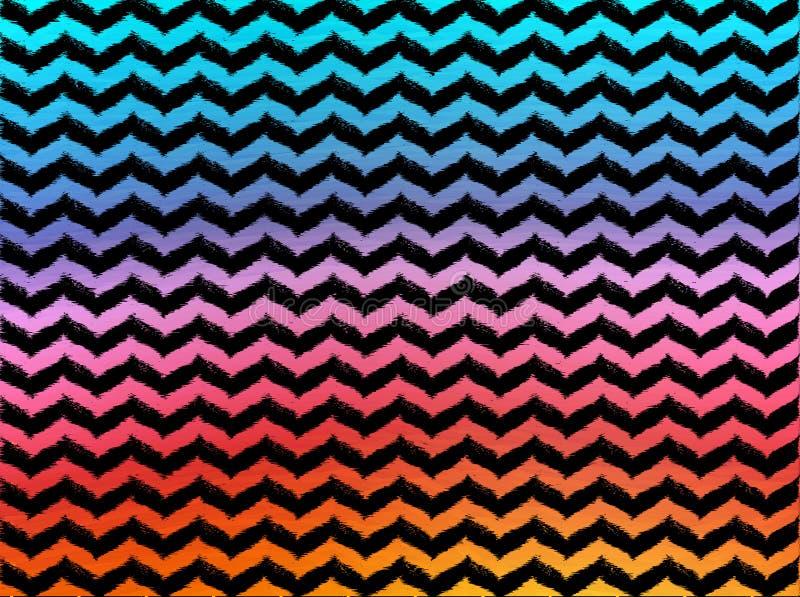 Vigas onduladas de Ombre no fundo preto foto de stock royalty free