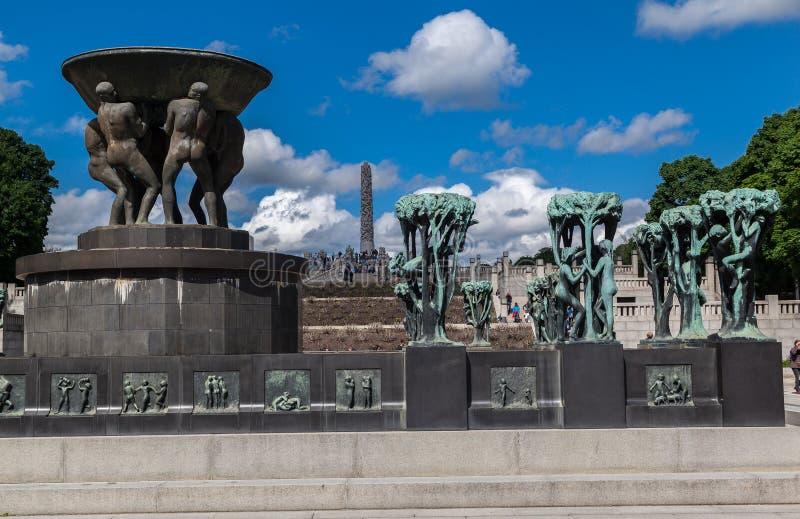 Vigeland公园奥斯陆 免版税库存照片