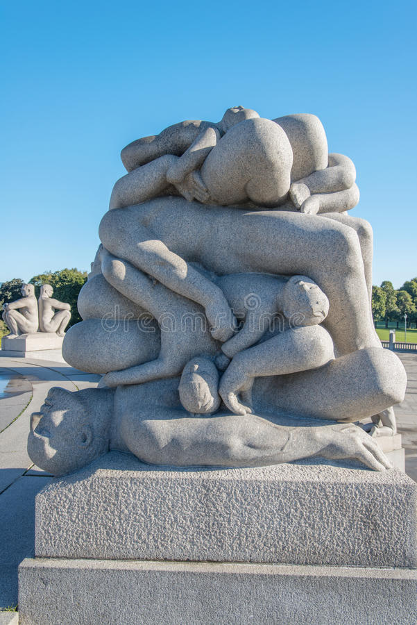 Vigeland公园雕象机体 免版税库存照片