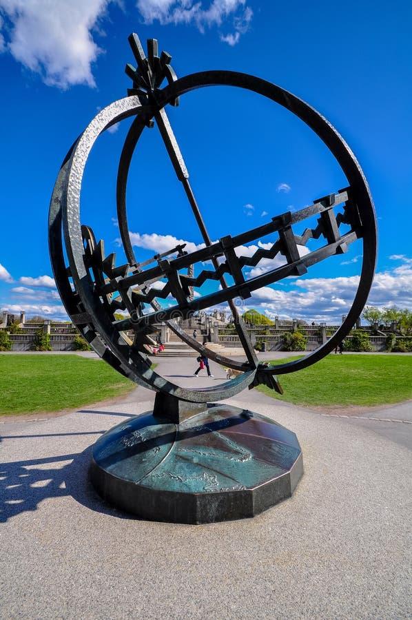 Vigeland著名雕象或者Frogner,公园在奥斯陆 库存照片