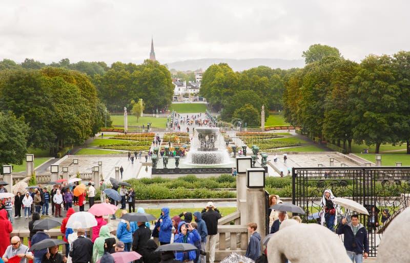Vigeland Park in Oslo lizenzfreies stockbild