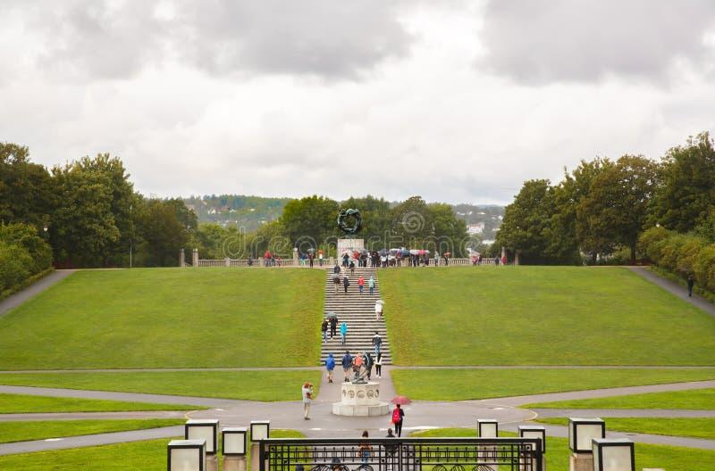 Vigeland Park in Oslo stockfoto