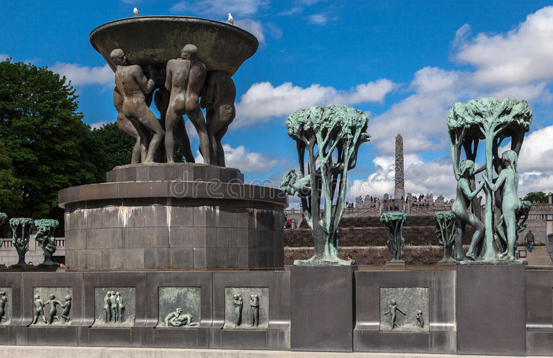 Vigeland-Park Oslo stockbild