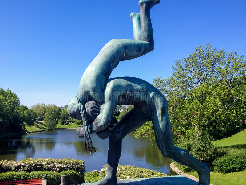 Vigeland park in Oslo, Norway stock images