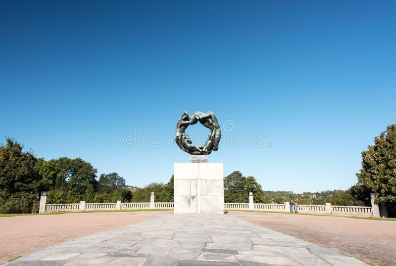 Vigeland park przy Oslo zdjęcia royalty free