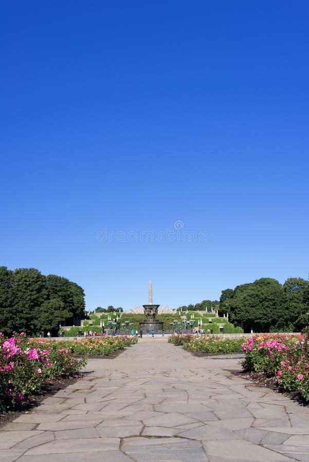 Vigeland parka ranek zdjęcie royalty free