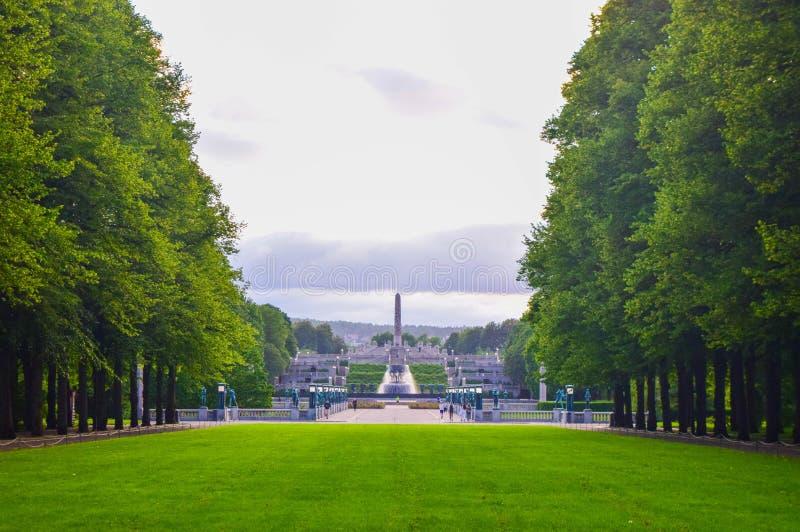 Vigeland sculpture park in Oslo, Noorwegen stock foto