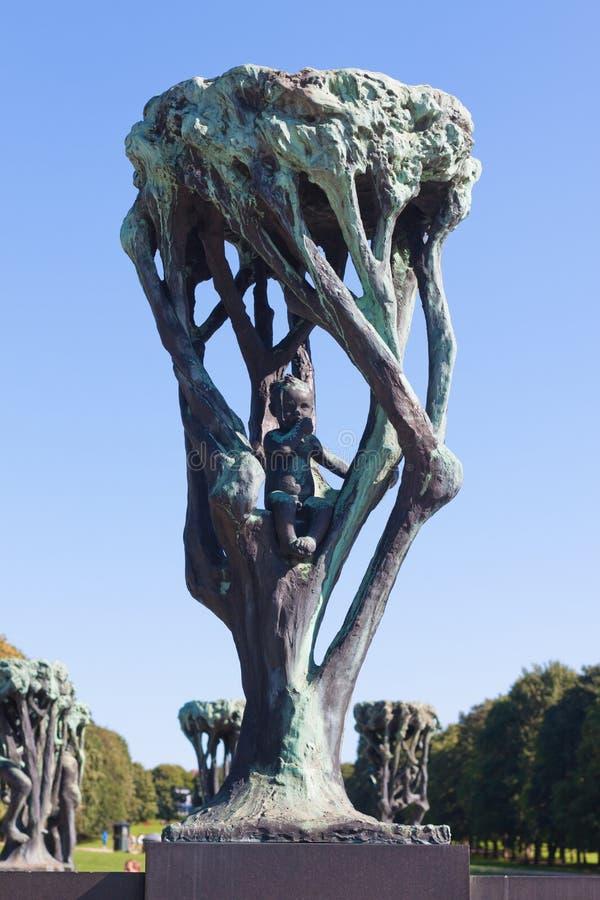 Vigeland-Skulptur-Anordnung stockfotografie