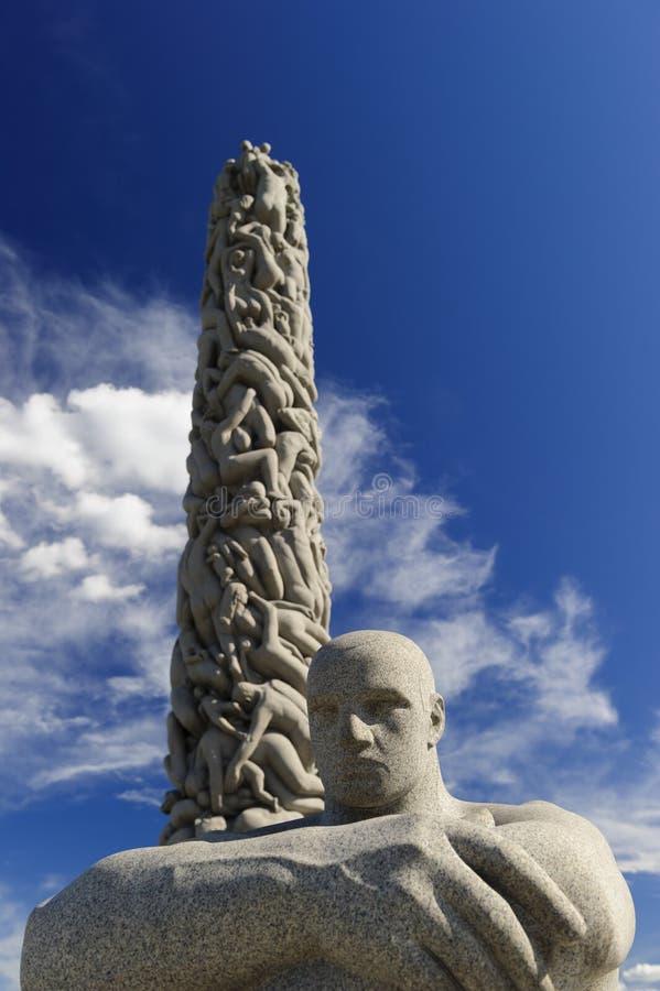 Vigeland-Skulptur-Anordnung, Frogner-Park, Oslo, Norwegen stockbilder