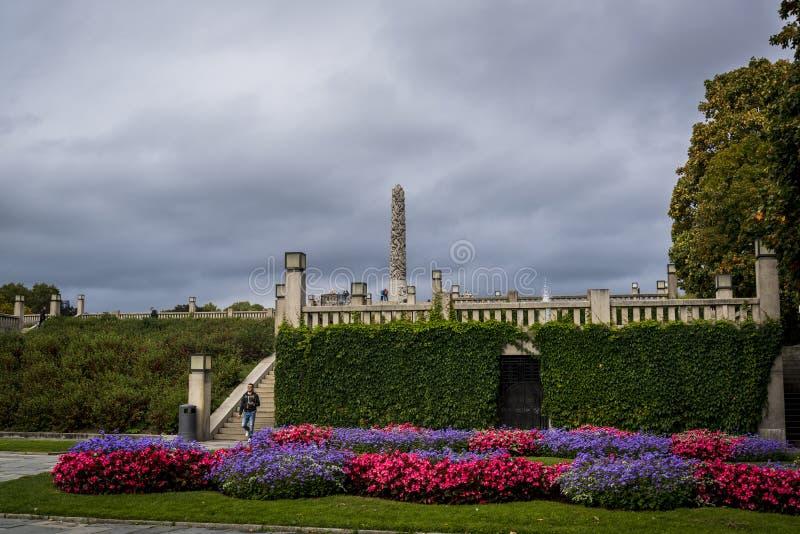 Vigeland-Skulpturenpark, OSLO, NORWEGEN stockfotografie