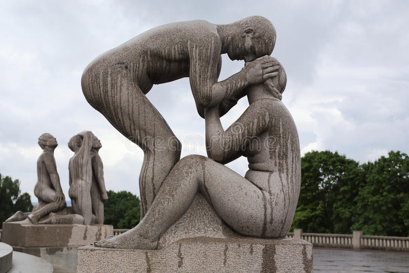 Vigeland Skulpturpark lizenzfreie stockbilder