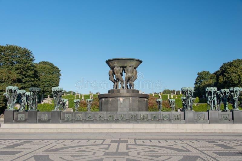 Vigeland statui parkowy piala zdjęcia royalty free