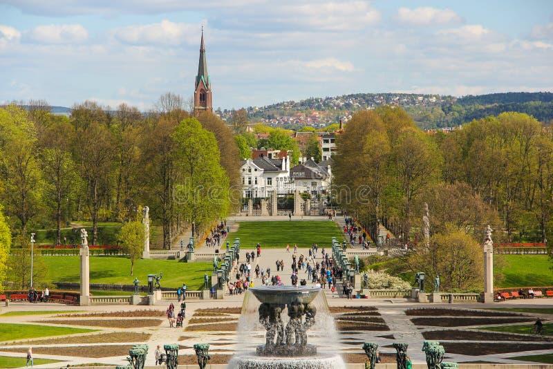 Vigelands parkerar i Oslo, Norge royaltyfria foton