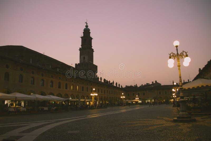 Vigevano, Ломбардия северная Италия, провинция Павии стоковые изображения rf