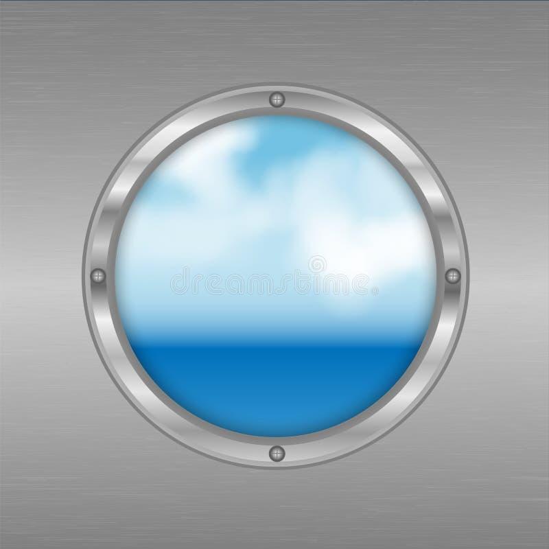 Vigia com uma vista do mar ilustração royalty free