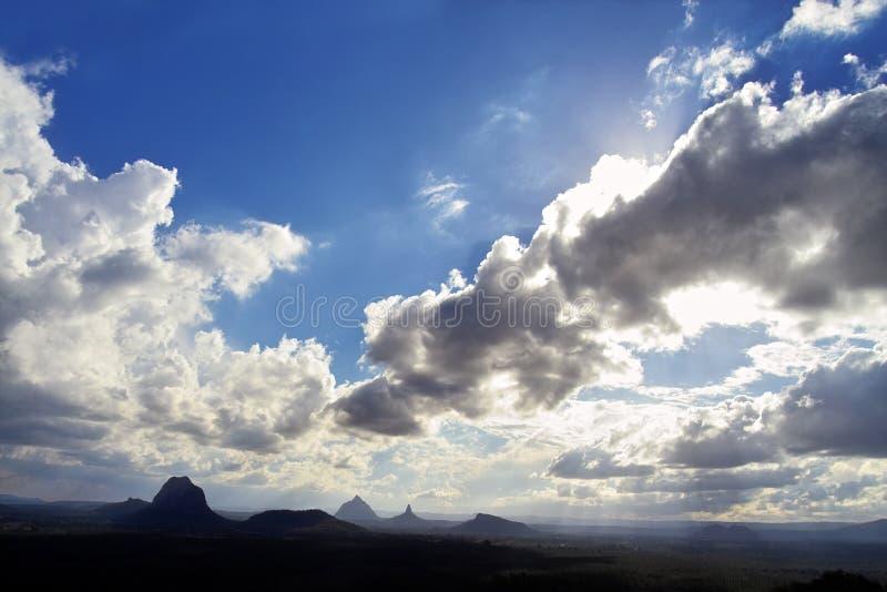 Vigia de vidro das montanhas da casa foto de stock royalty free