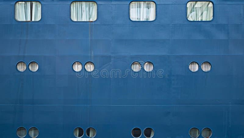Vigia do navio, janelas pequenas no lado do navio fotos de stock royalty free