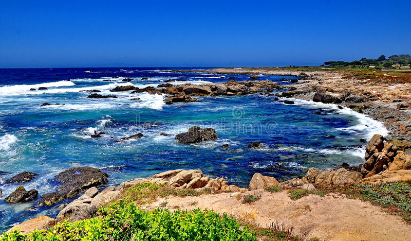 Vigia em Pebble Beach em Califórnia foto de stock royalty free