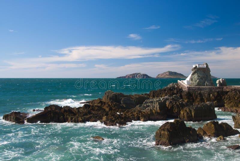 Vigia na praia de Mazatlan foto de stock