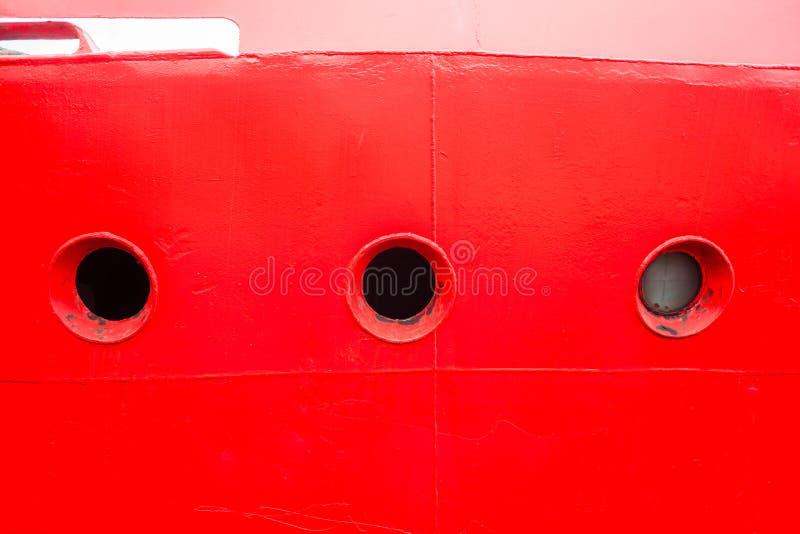 Vigias da cabine do navio vermelhas imagens de stock